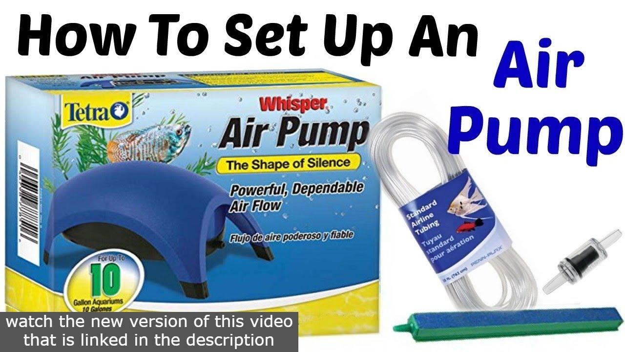 How To Set Up The Tetra Whisper Air Pump Cc Youtube