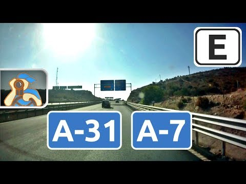 España. A-35, N-344, A-31, A-7 (E15), A30. Moixent - Murcia