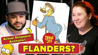 Animator Vs. Cartoonist Draw Simpsons Characters From Memory • Draw Off