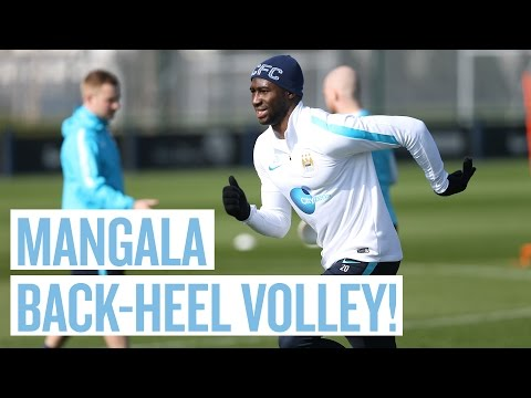 MANGALA BACK-HEEL VOLLEY WONDERGOAL! | Manchester City Training