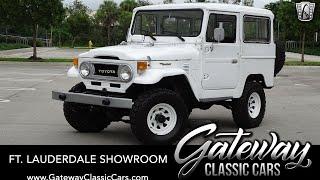 1978 Toyota Land Cruiser FJ40 For Sale Gateway Classic Cars Fort Lauderdale #1369