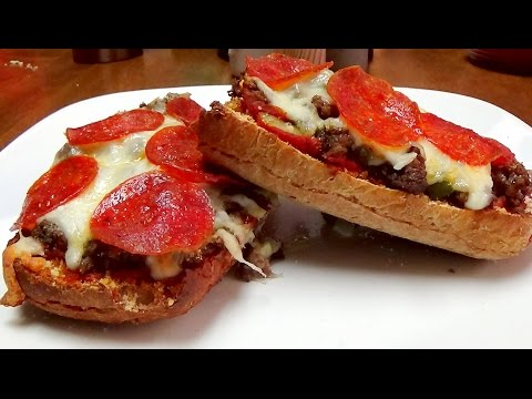 Recipe for French Bread Pizza with Ground Chuck