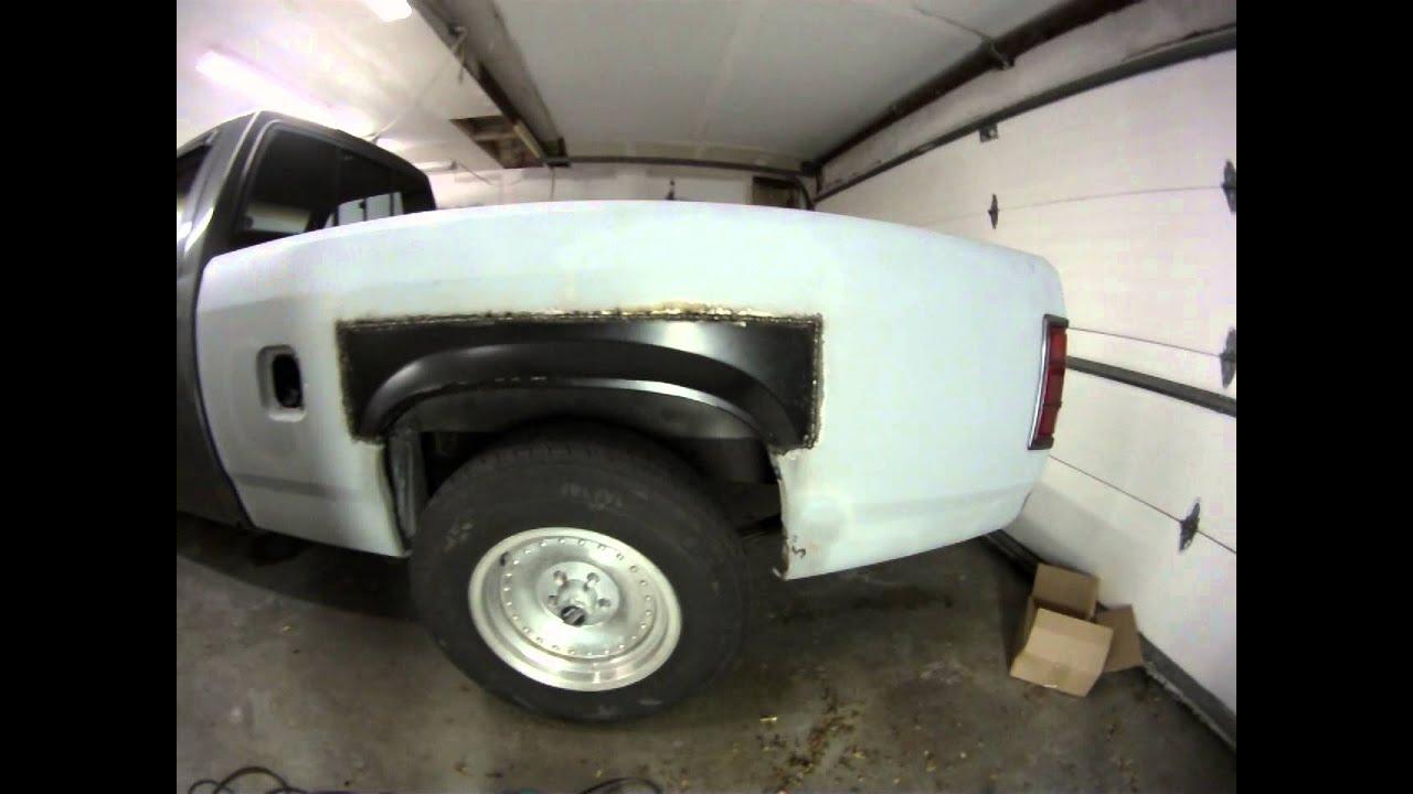 1987 Dodge Dakota Bed Rust Repair 3 Youtube