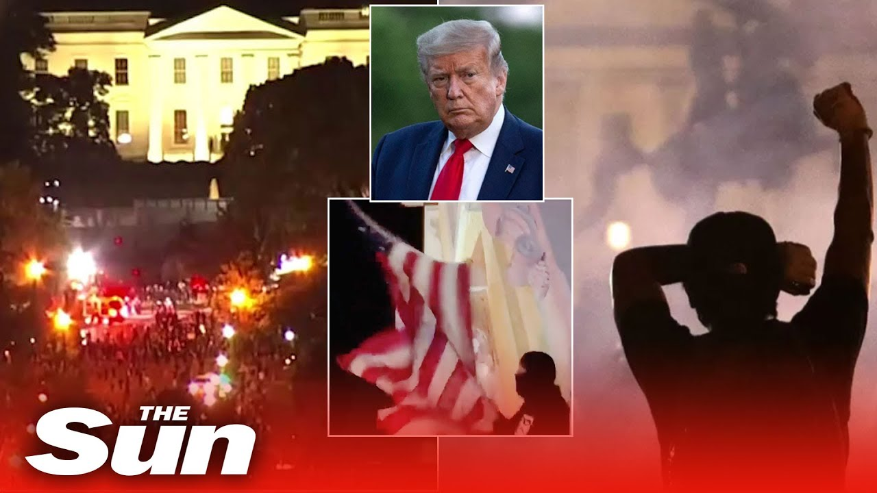 Donald Trump rushed to 'terror attack' bunker as violent George Floyd riots rage near White House