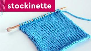 STOCKINETTE Knit Stitch Pattern