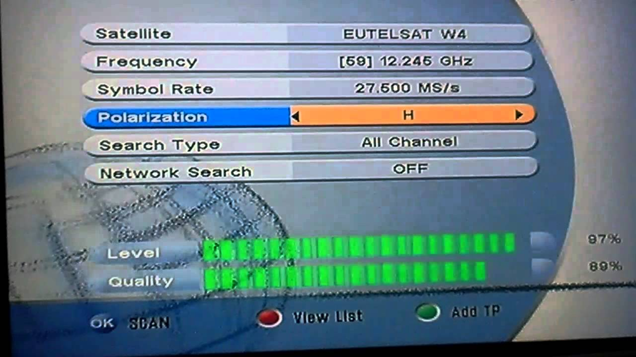 How configure your search for your DSTV signal  With another decoder