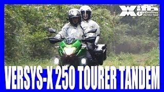 Kawasaki VERSYS-X250 TOURERで林道チャレンジ!荷物満載親子ツーリング