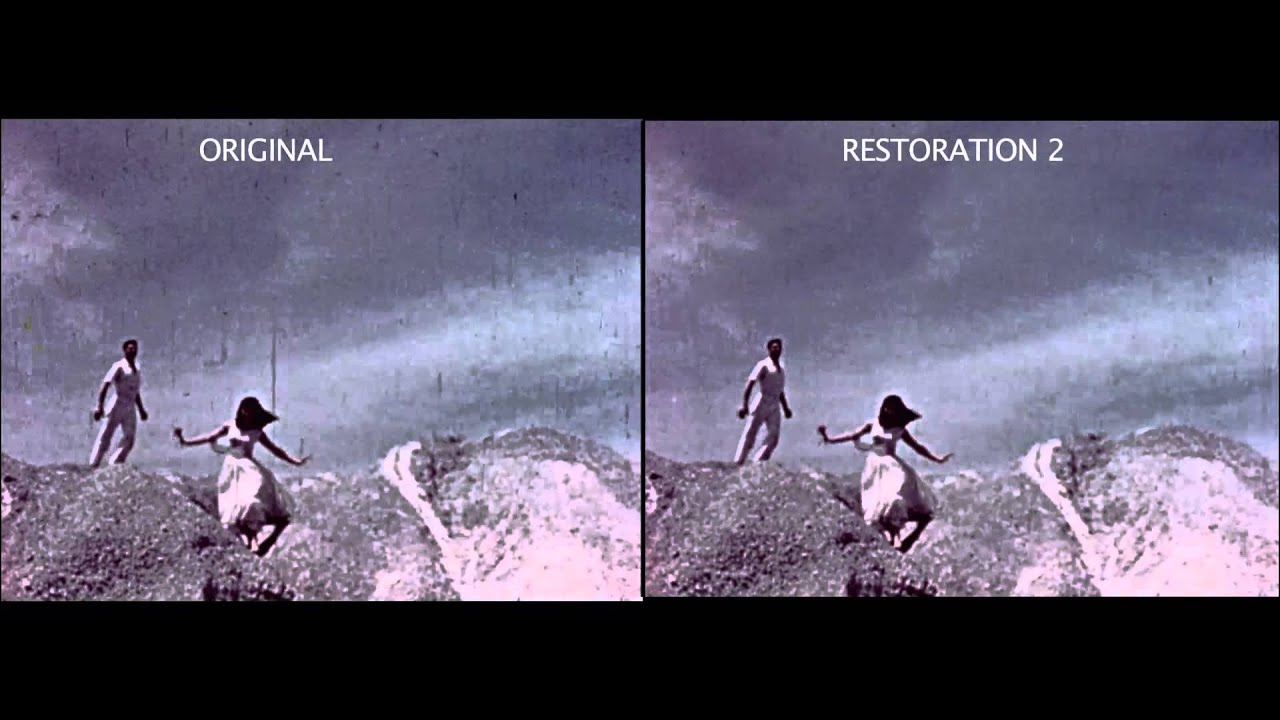 A Moment in Love Before and After Restoration Comparison - YouTube