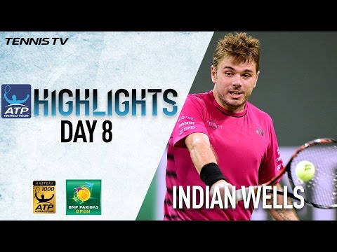 Highlights: Wawrinka, Carreno Busta Reach SFs At Indian Wells 2017