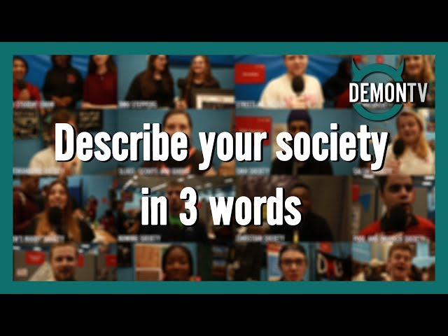 Describe your society in 3 words | Activities Fair 2019