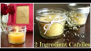 Easy 2 Ingredient Candles - How to Make DIY Candles