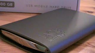 LACIE STARCK 500GB portable hard drive - a very sexy hard drive