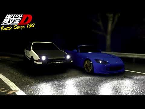 Initial D Battle Stage 1&2 Eurobeat Mix, All Songs In The Correct Order [HD]