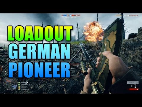 Loadout German Pioneer Elite Infantry | Battlefield 1 Madsen Gameplay