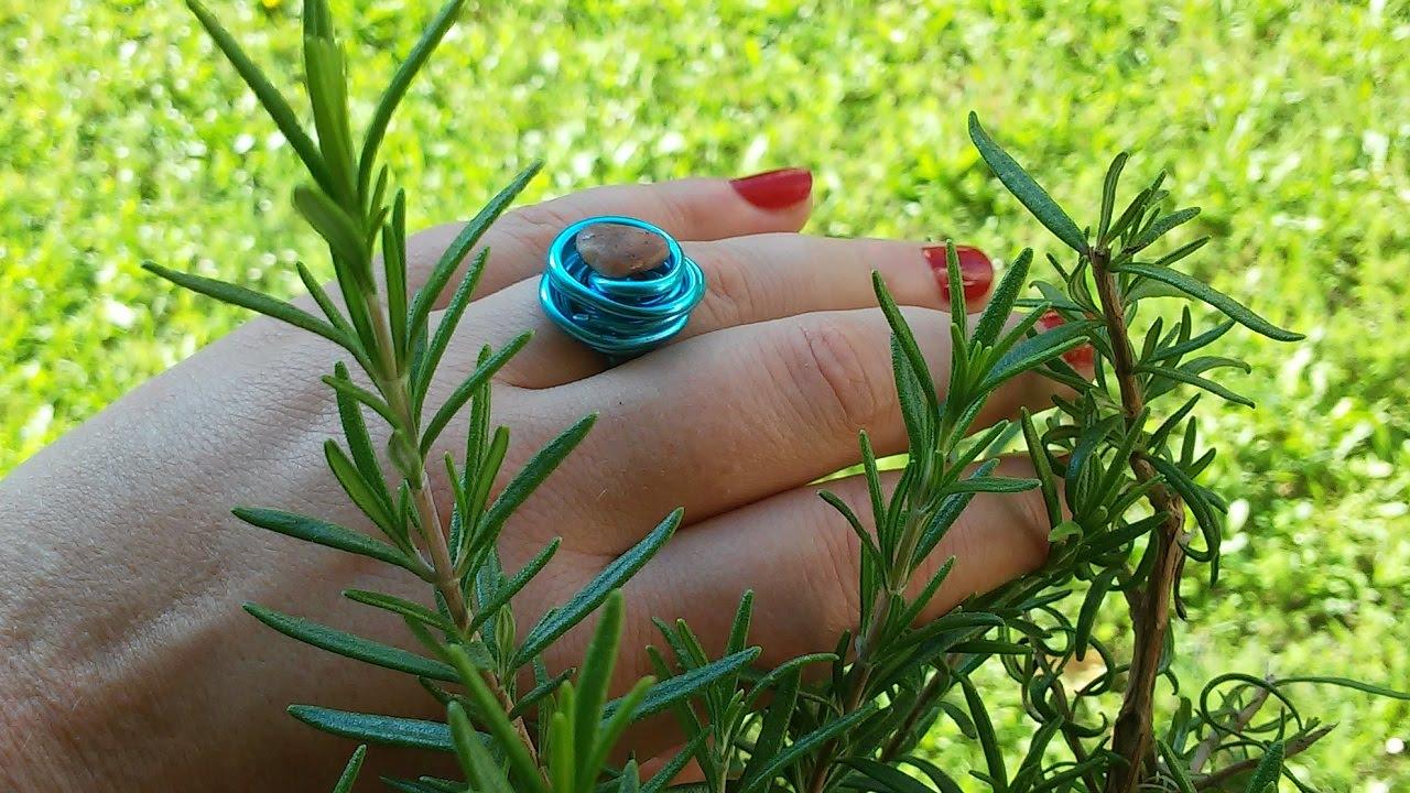 DIY Ring aus Draht mit Stein - YouTube