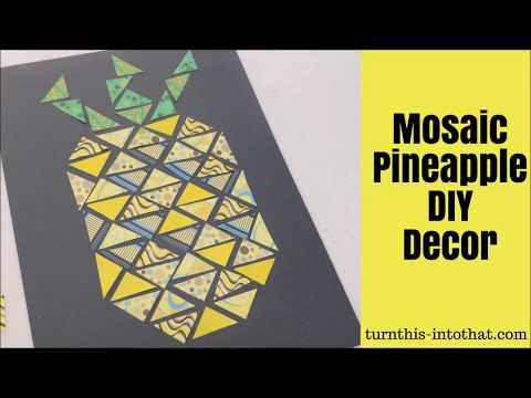 Mosaic Pineapple DIY Decor