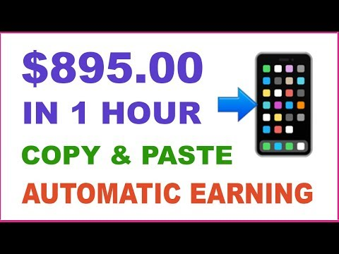 (NEW) Earn $895.00 In 1 Hour With Copy And Paste ( Make Money Online )
