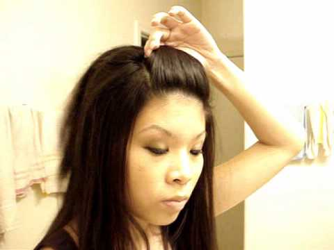 Front Poof Hairstyle - YouTube