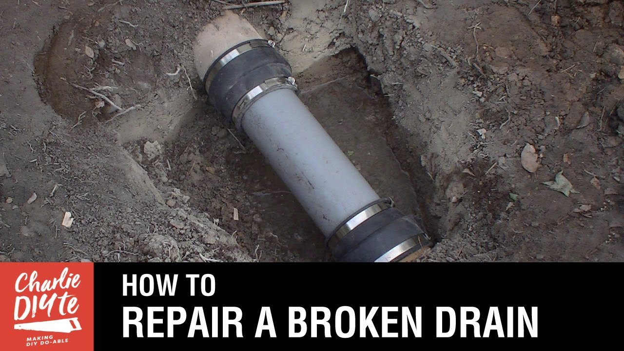 How to Repair a Broken Clay Drainage Pipe - YouTube