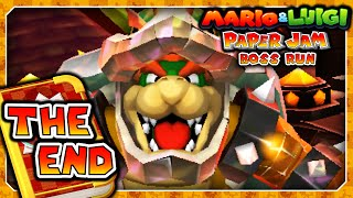 Mario & Luigi: Paper Jam Boss Run - FINALE - Papercraft Bowser & Shiny RoboBowser Final Boss Battle!