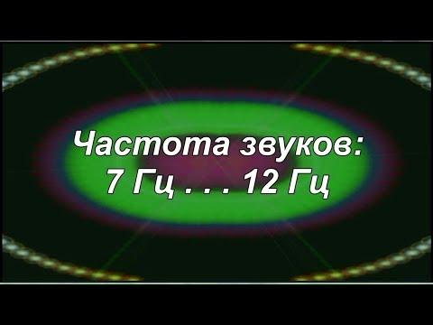 Резонанс Шумана - частота 7,83 Гц и альфа - 12 Гц (звуки частотные: от 7 Гц - до 12 Гц) - YouTube