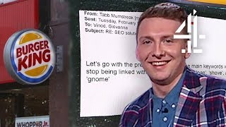 Joe Lycett Replies to SPAM Emails & Burger King Gets Tested? | Joe Lycett's Got Your Back