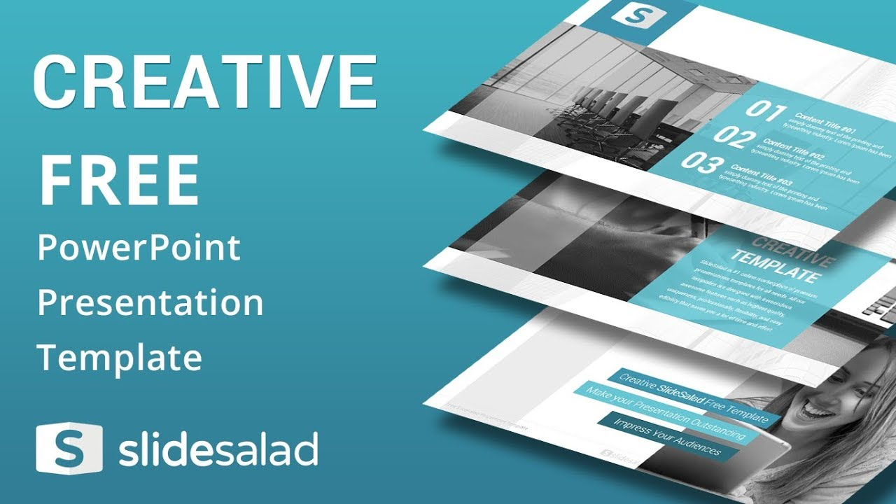creative free download powerpoint presentation template - youtube, Powerpoint templates