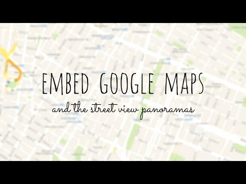 How To Embed Google Maps