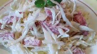 Новый салат с капустой Такой салат готовьте хоть каждый день