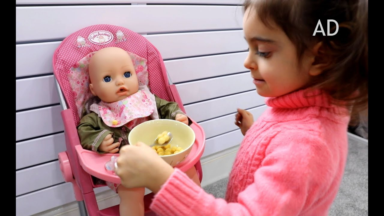 Baby Annabell Interactive Doll - YouTube