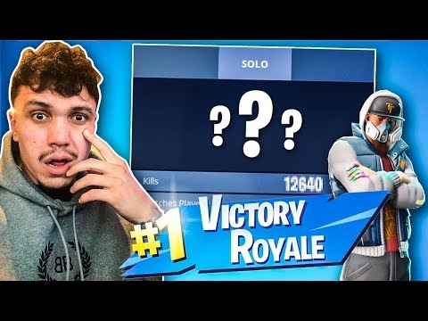*EXPOSING* My Brothers STATS!! LOOK HOW MANY WINS HE GOT ON FORTNITE!