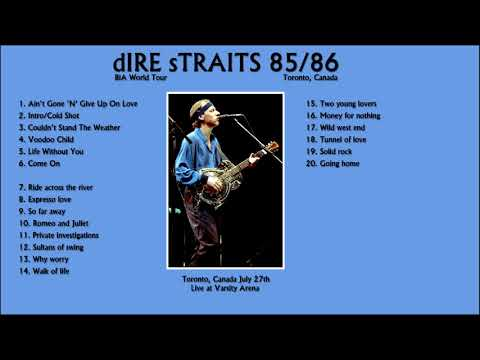 Dire Straits with SRV Live in Toronto, 1985