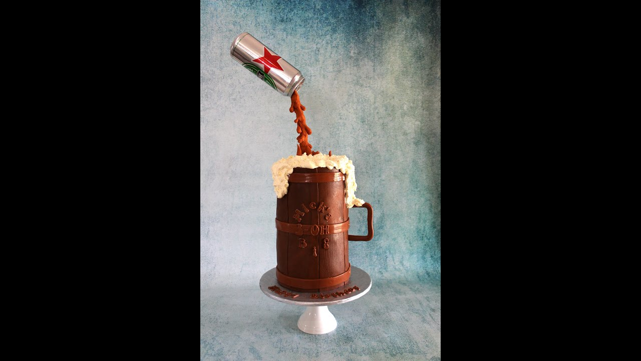 Gravity Defying Beer Can Cake How To Youtube