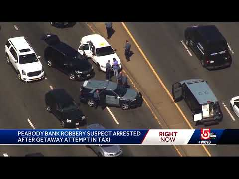 Bank robbery suspect made getaway attempt in taxi