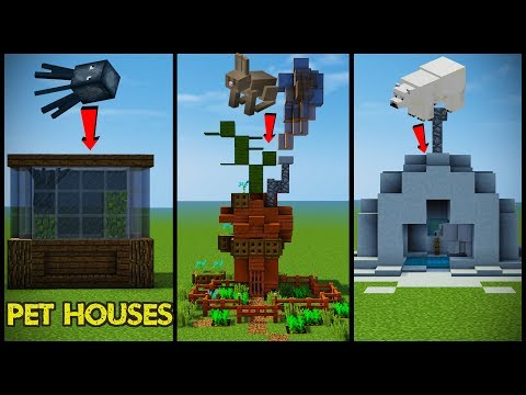 34 Minecraft Pet (Animal) House Designs!