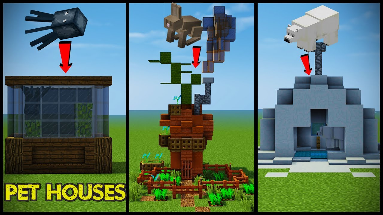 34 Minecraft Pet  Animal  House Designs