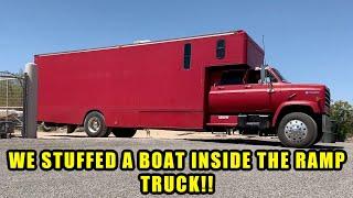 Turbo Diesel Ramp Truck Road Trip Pt.2: Truckstop Aliens and drag boats-Finnegan's Garage Ep.143