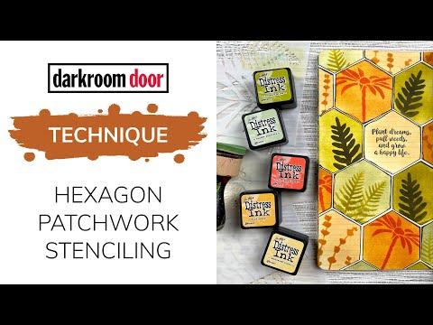 Hexagon Patchwork Stenciling