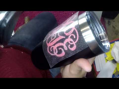 Craftmas Episode 52:  Using HTV on an Aluminum Tumbler