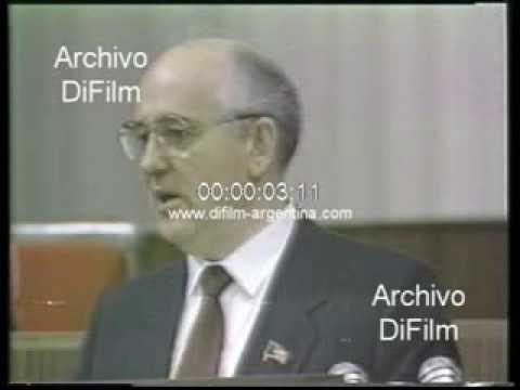 DiFilm - Mikhail Gorbachev reveal military cost Soviet Union 1989