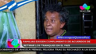 Familias exigen cumplimiento de acuerdos de retirar los tranques en el país