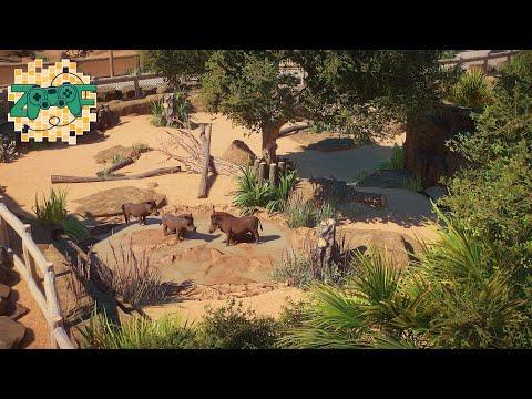 Warthog indoor & Outdoor Habitat   Planet Zoo Speed Build   Limpopo EP11