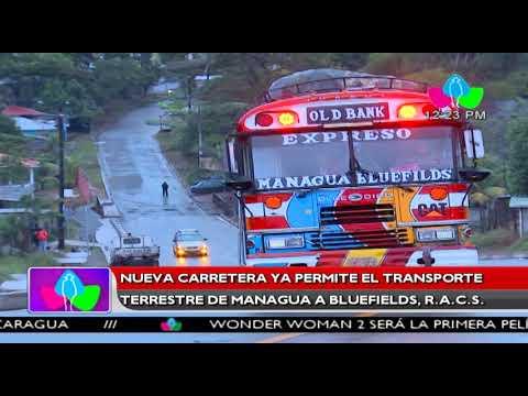Nueva carretera ya permite el transporte terrestre de Managua a Bluefields, R.A.C.S