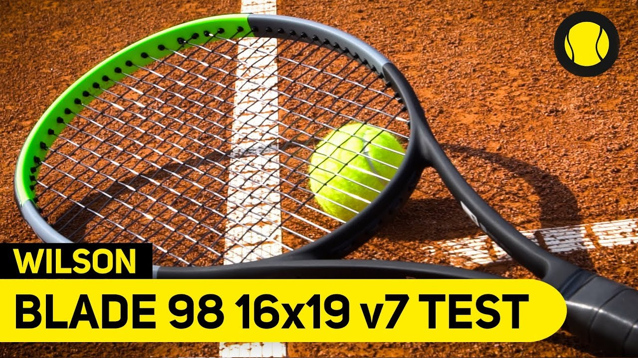 Wilson Blade 98 16x19 v7   Racket Review   Tennis-Point - YouTube