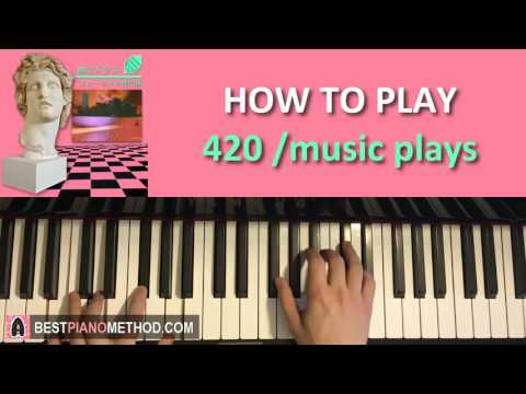 HOW TO PLAY - MACINTOSH PLUS -  リサフランク420 / 現代のコンピュー (Piano Tutorial Lesson)