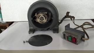 分相起動単相誘導電動機 松下電器古いモーターの動作確認 始動