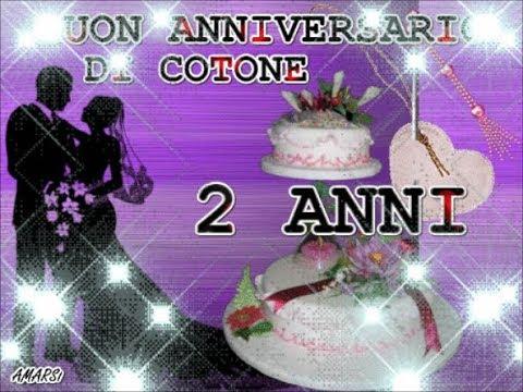 2 Anniversario Di Matrimonio.Buon Anniversario Nozze Di Cotone 2 Anni Di Matrimonio Buongiorno