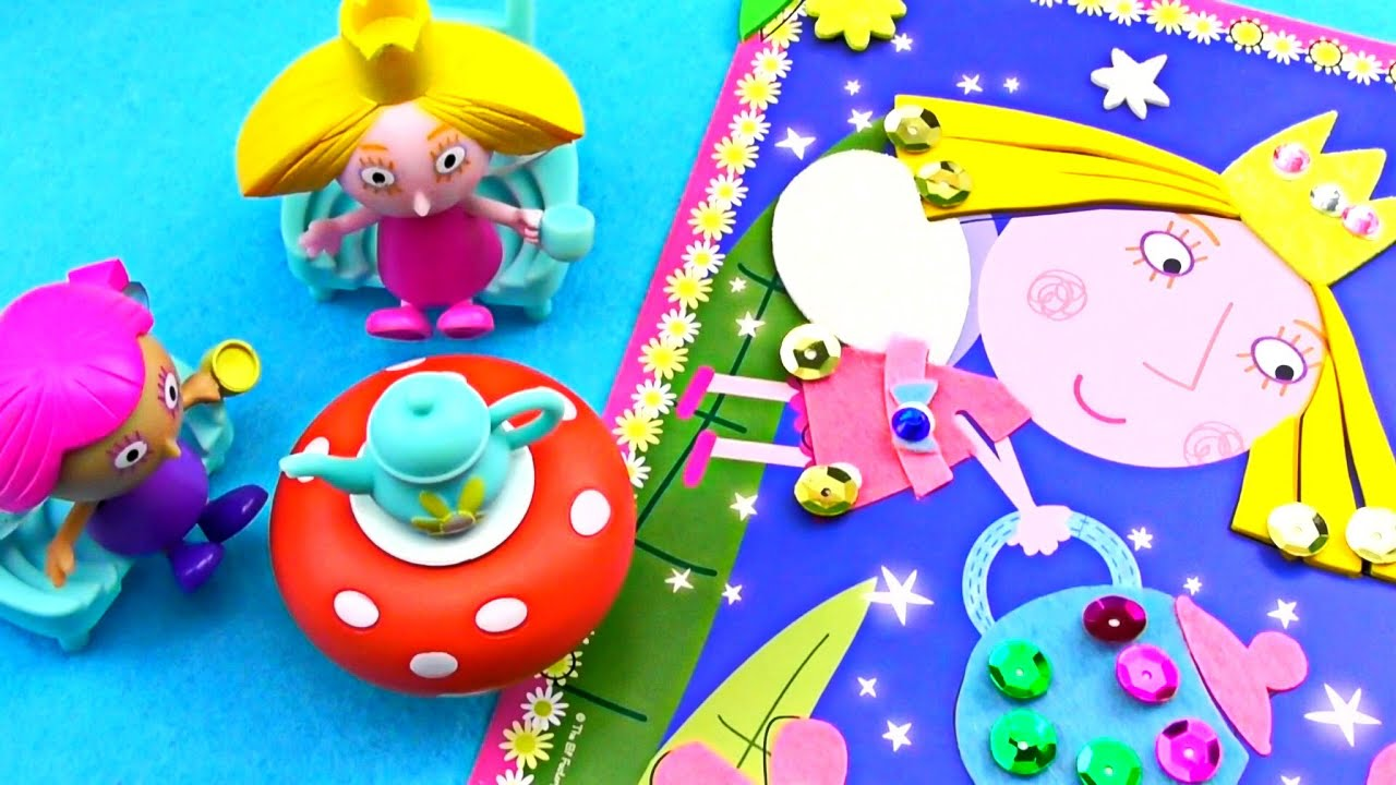 ben and holly's little kingdom  story holly applique page