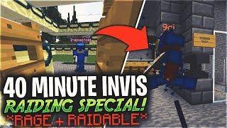 40 MINUTE INVIS RAIDING SPECIAL (RAGE + RAIDABLE) *INSANE*   Minecraft HCF