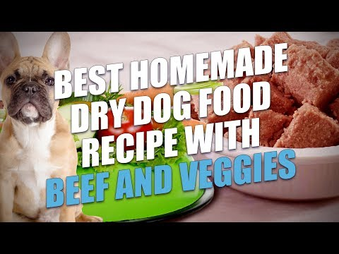 Best Homemade Dry Dog Food Recipe with Beef and Veggies